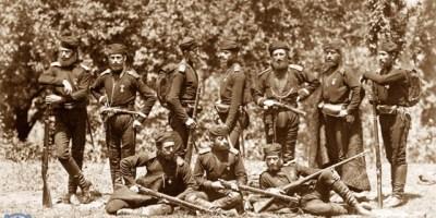 Gurian soldiers at Tsikhisdziri, Russo-Turkish war of 1877-1878