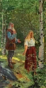 igfrid August Keinänen (1841-1914), Väinämöinen and Aino (1896), oil on canvas