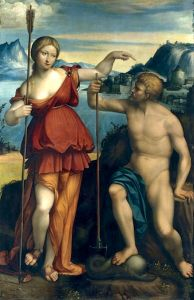Poseidon and Athena battle for control of Athens, 1512