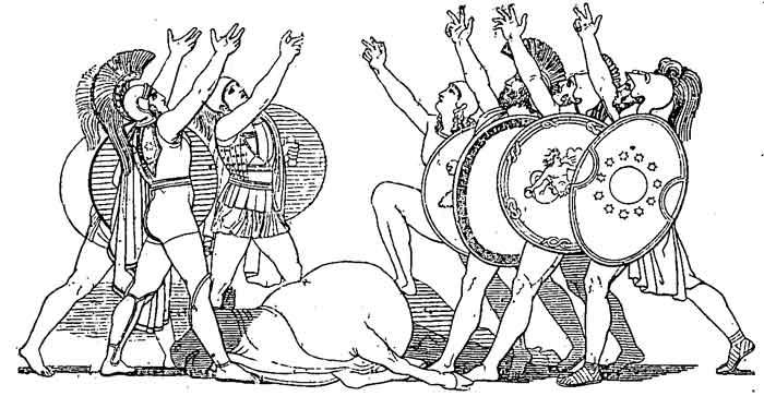 Seven against Thebes, The Oath, Adrastus, Polynices, Capaneus, Parthenopeus , Amphiaraus, Hippomedon, Tydeus