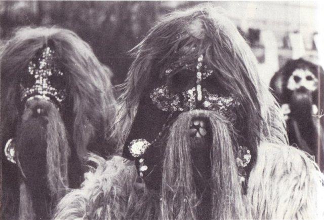 Kukeri masks from the village of Zidarovo, Bourgas