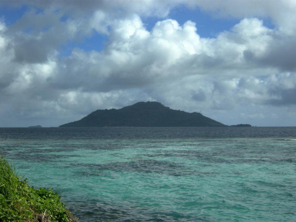 Dublon Island seen from Eten Island, Chuuk, Micronesia Matt Kieffer