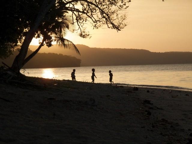 Sunrise at Vanuatu