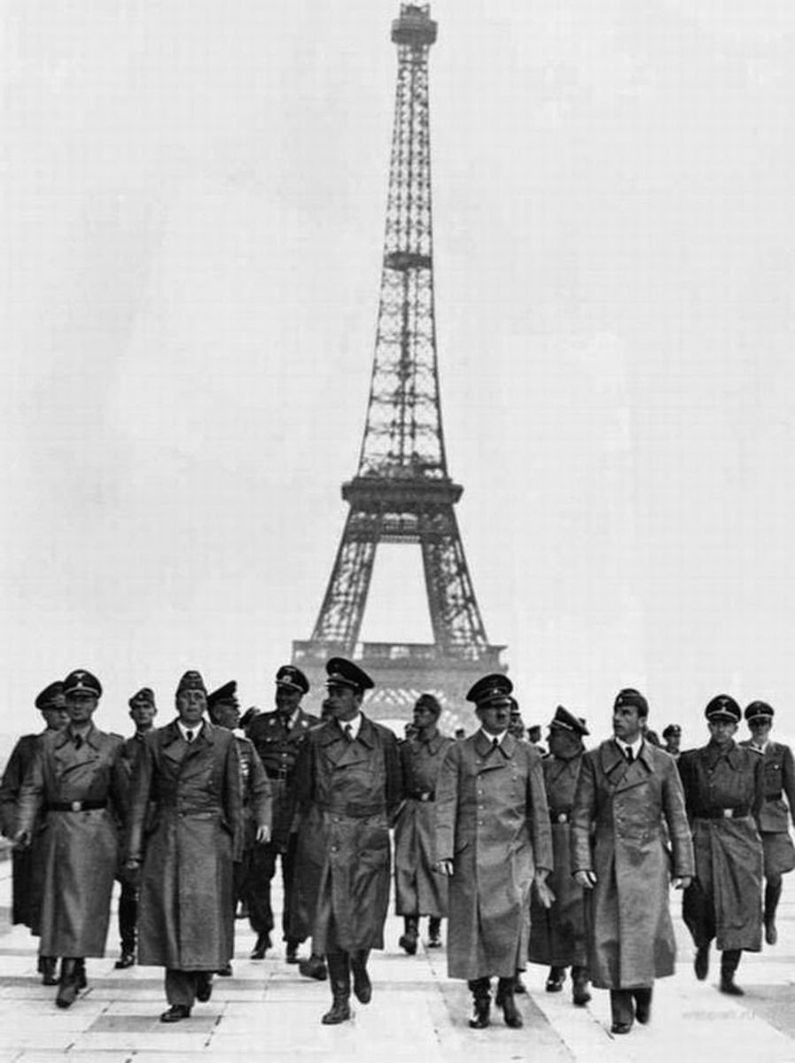 Hitler has brought with him on his trip to Paris not German generals, but Speer & Brekker, his favourite architect & artist. He wants them to make Berlin outshine Paris.