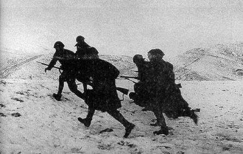 Italian invaders hitting first real resistance- Greek mountain troops are fighting fiercely on the slopes of the Epirus Mountains.