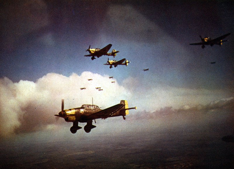 "Luftwaffe General Adolf Galland: ""We attack in great numbers to draw the English fighters from their bases; our second wave of planes will crush them"