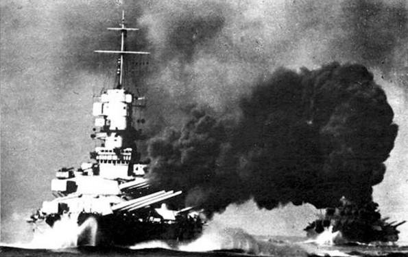 "British aircraft carrier Ark Royal almost hit by Italian bombers- but Regia Marina were ordered not to close in on Royal Navy unless ""certain of victory"". Entire ""Battle of Cape Spartivento"" took just 54 minutes"
