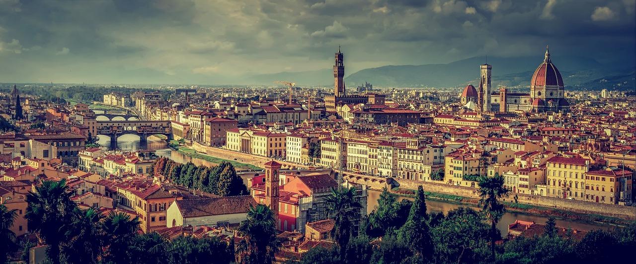 Floransa Tuscany Italya Panorama Firenze