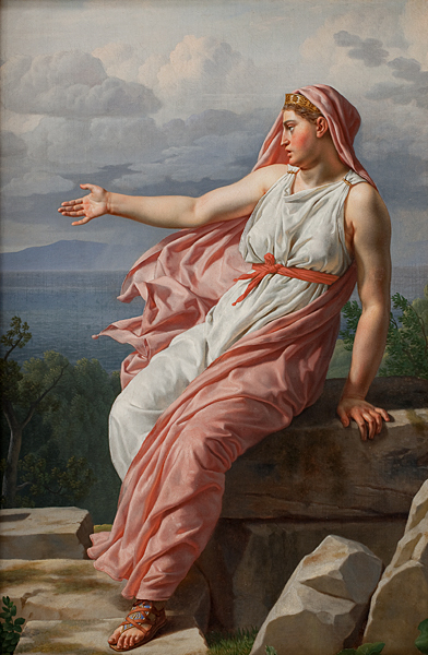 Alcyone's farewell to Ceyx Christoffer Wilhelm Ekersberg 1813 National Gallery of Denmark