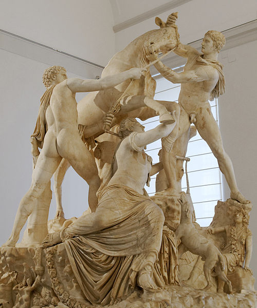 The death of Dirce. Roman adaptation of the Imperial era after a Greek original of the Early Hellenistic era; heavy modern restorations.Farnese Bull, Toro Farnese