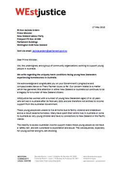 WEJustice letter to Ardern