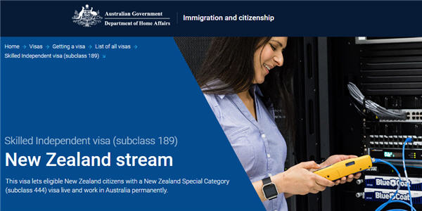 New Zealand permanent visa (189)