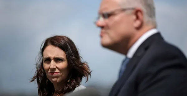 Ardern press conference with Morrison.