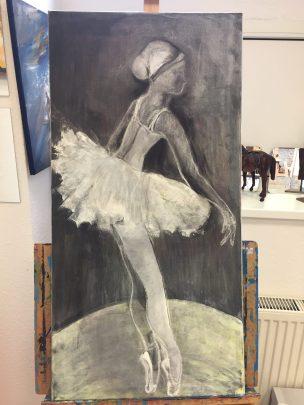 Werke von Rita Klenz im Erwachsenen-Kunstkurs in Hannover