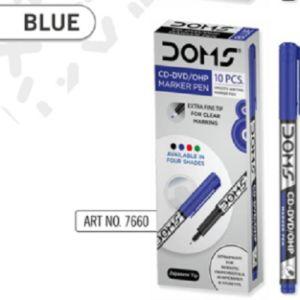 Doms Blue CD-DVD/OHP Marker Pen