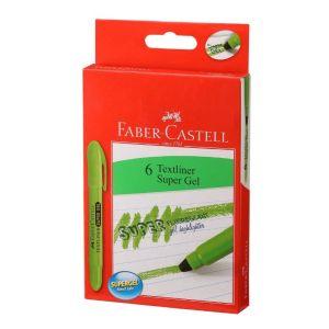 Faber Castell Super Gel Green Textliner 15 Pack