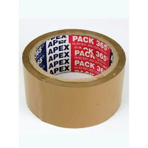 Apex 2 inch Brown Tape 65 mtr