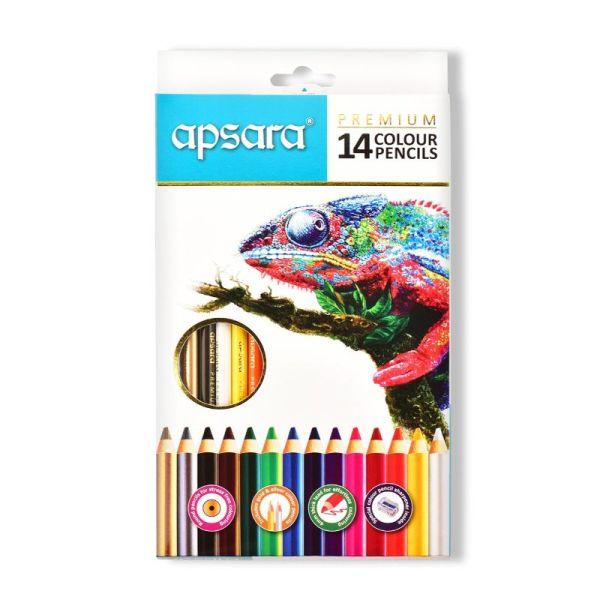 Apsara 14 Premium Color Pencils Box