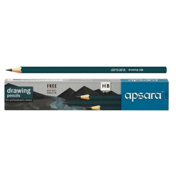 Apsara 6H to 6B Single Grade Wooden Drawing Pencil