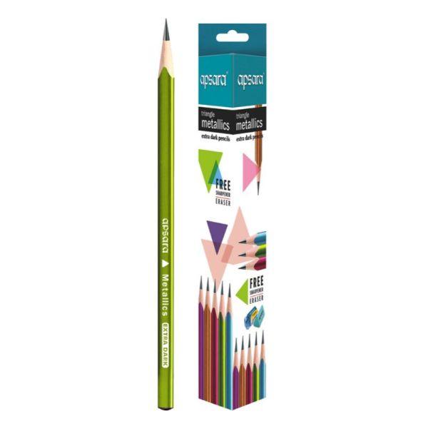 Apsara Triangle Metallic Wooden Pencil