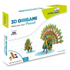 Pidilite DIY 3D Origami Craft Kit : Peacock