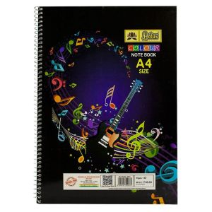 Lotus Colour Rulled Spiral Note Book