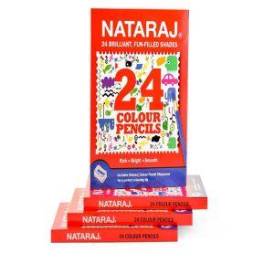 Nataraj 24 Full Size Colour Pencils
