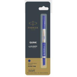 Parker Quink Ultra Fine Navigator Roller Ball Pen Refills (0.5mm - Needle Tip) Blue Accessories