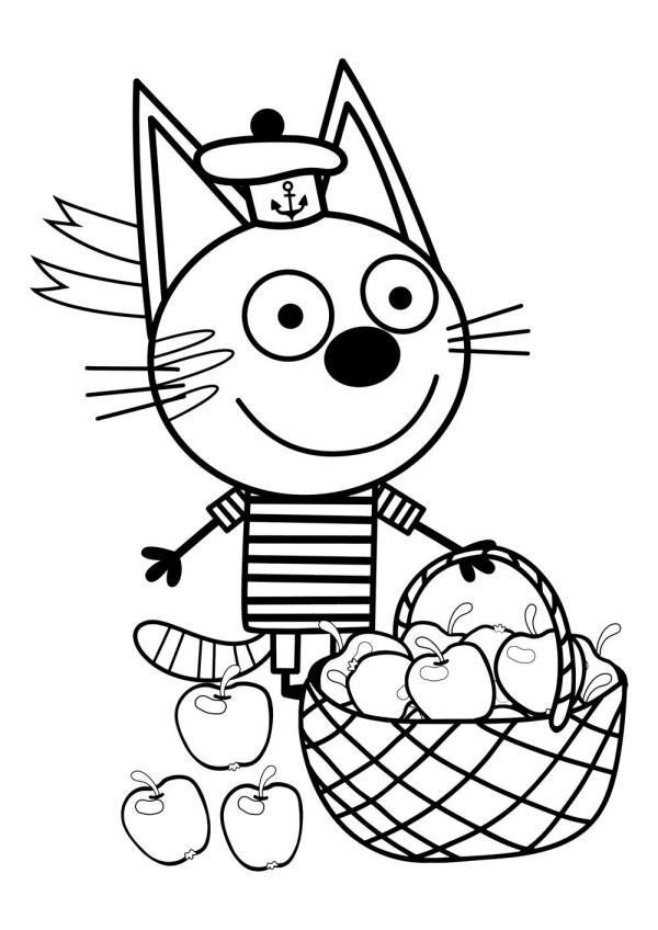 Раскраска Котёнок Коржик | Ozornik.net