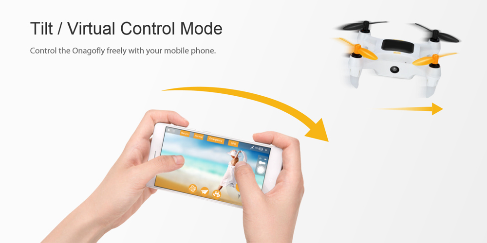 Drone with Tilt and Virtual Control Mode