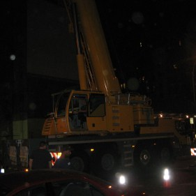 Crane Work at Night - We work whenever we need to