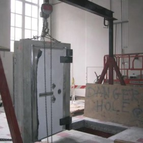 Ready opening for 6,000 pound vault door