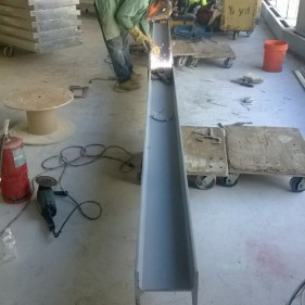 Welding Beam For Roof Support - Gem Tower Project