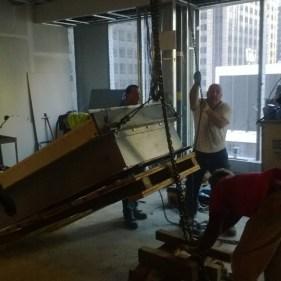 Chain Fall Lift of 6,000 Pound Vault Door