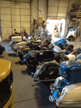 Motorycles ready to be prepared for shipping