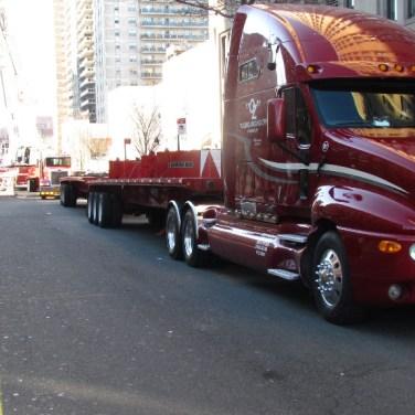 Crane Job - Counter weighted flat bed truck