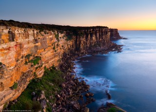 North Head Cliffs at Sunrise, Sydney Harbour National Park, Sydn