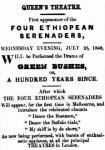 Four Ethiopoean Serenaders [ARG 24 July 1849, 3]