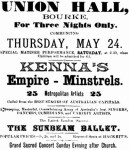 Kenna's Empire MInstrels [WHB 23 May 1900, 3]