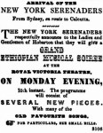 New York Serenaders [CT 7 Nov 1851. 3]