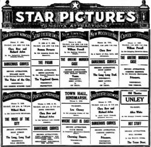 Star Pictures ad [AA 11 Jan 1930, 2]