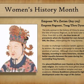 China's Empress Wu Zetian, International Women's Day