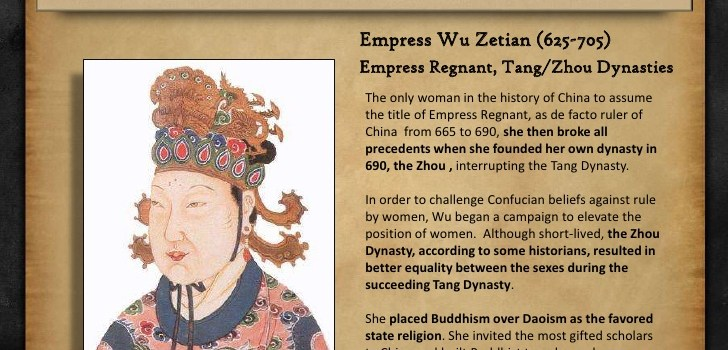 China's Empress Wu Zetian, International Women's Day