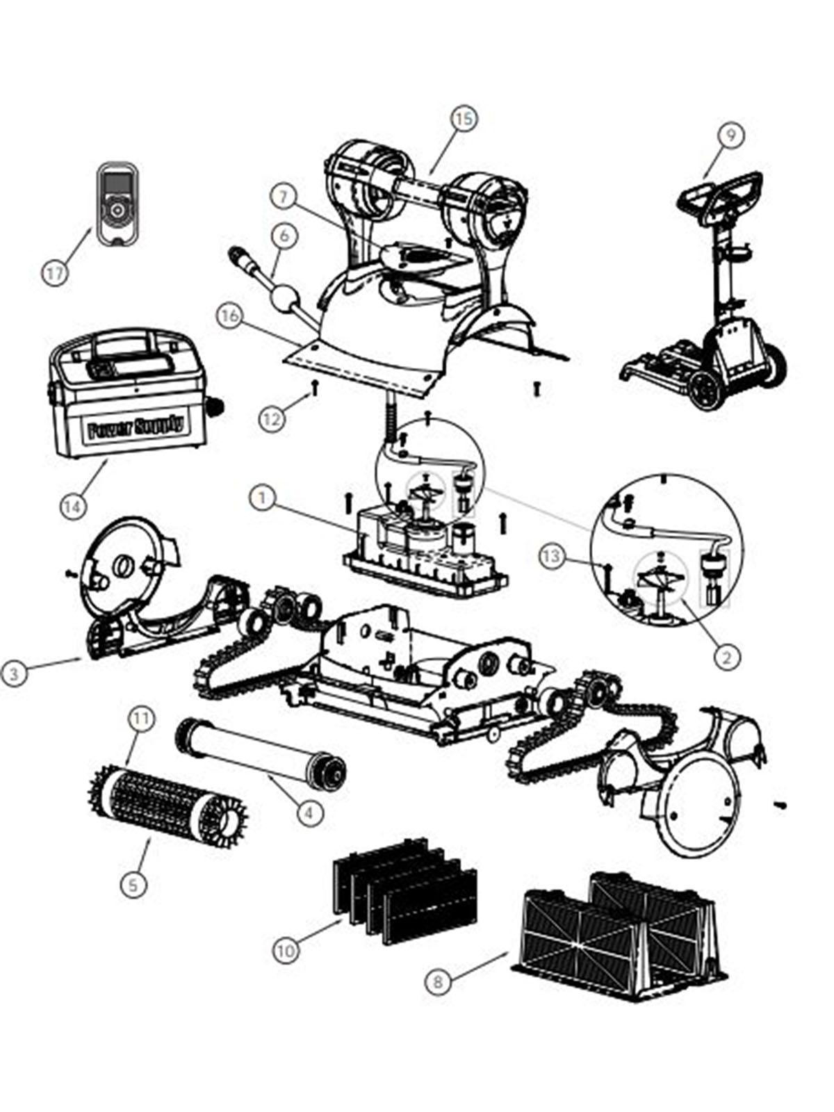 Pentair Kreepy Krauly Prowler 830 Inground Robotic