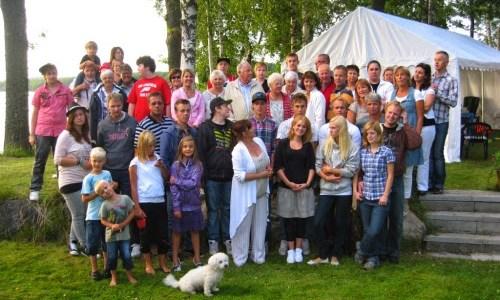 Släktkalas för hela Berths släkt 2010