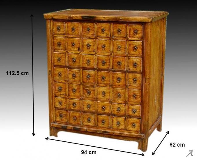 meuble de metier ancien a 42 tiroirs