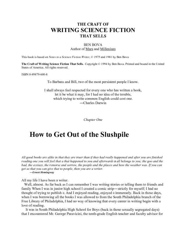 Calaméo - Ben Bova - The craft of writing science fiction that sells