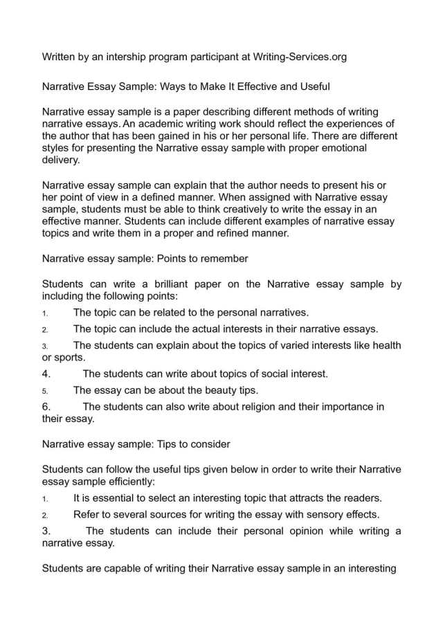 Calaméo - Narrative Essay Sample: Ways to Make It Effective and Useful