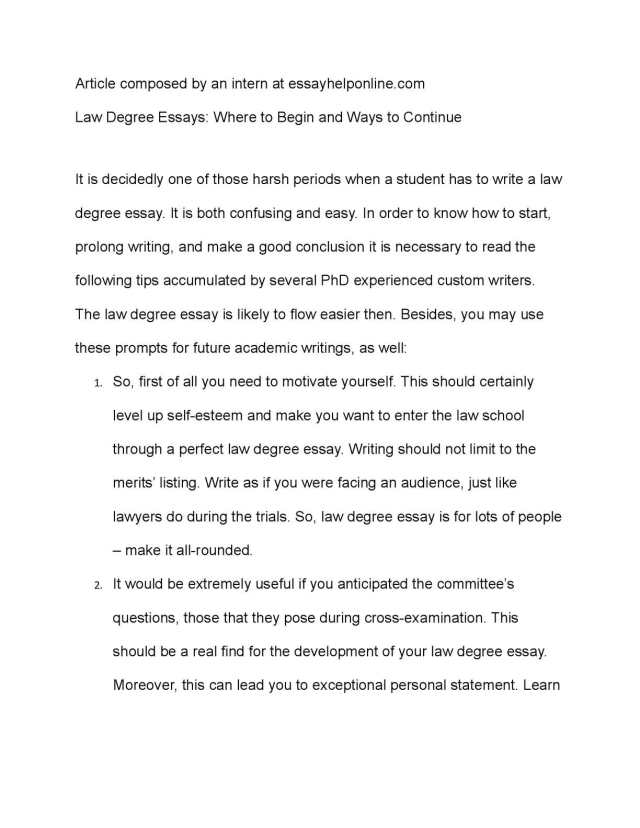 Calaméo - Law Degree Essays: Where to Begin and Ways to Continue