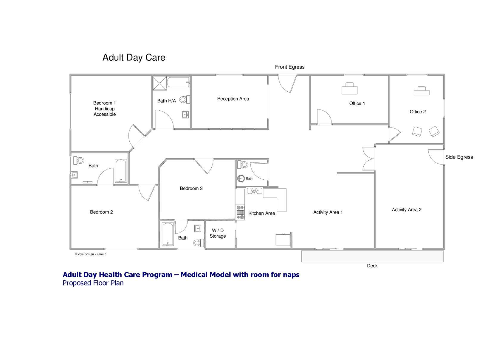 ADULT DAY CARE SAMPLE FLOOR PLAN